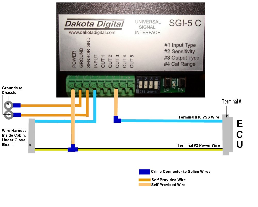 Who Is Using A Converter To Correct Your Sdometers ... Dakota Digital Sdometer Wiring Diagram on