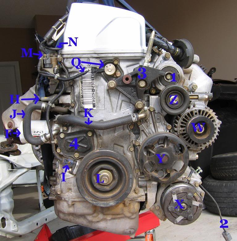 K20/24 Sensor And Parts/#s Location